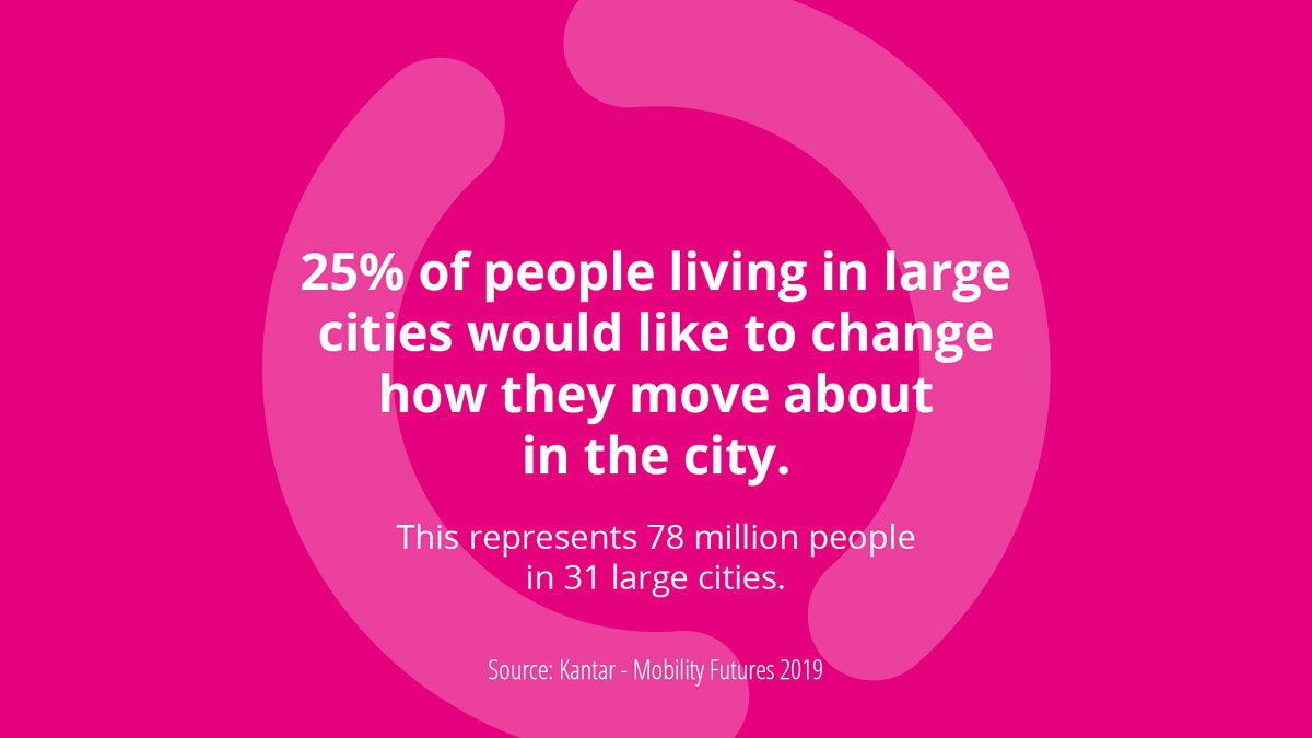 Mobility's future will have a direct impact on how a quarter of the population in cities such as Los Angeles, Singapore or São Paulo commute everyday. That's why we must make the transition to multimodality as smooth as possible. #Free2MoveFacts https://t.co/QKMYpitU9m