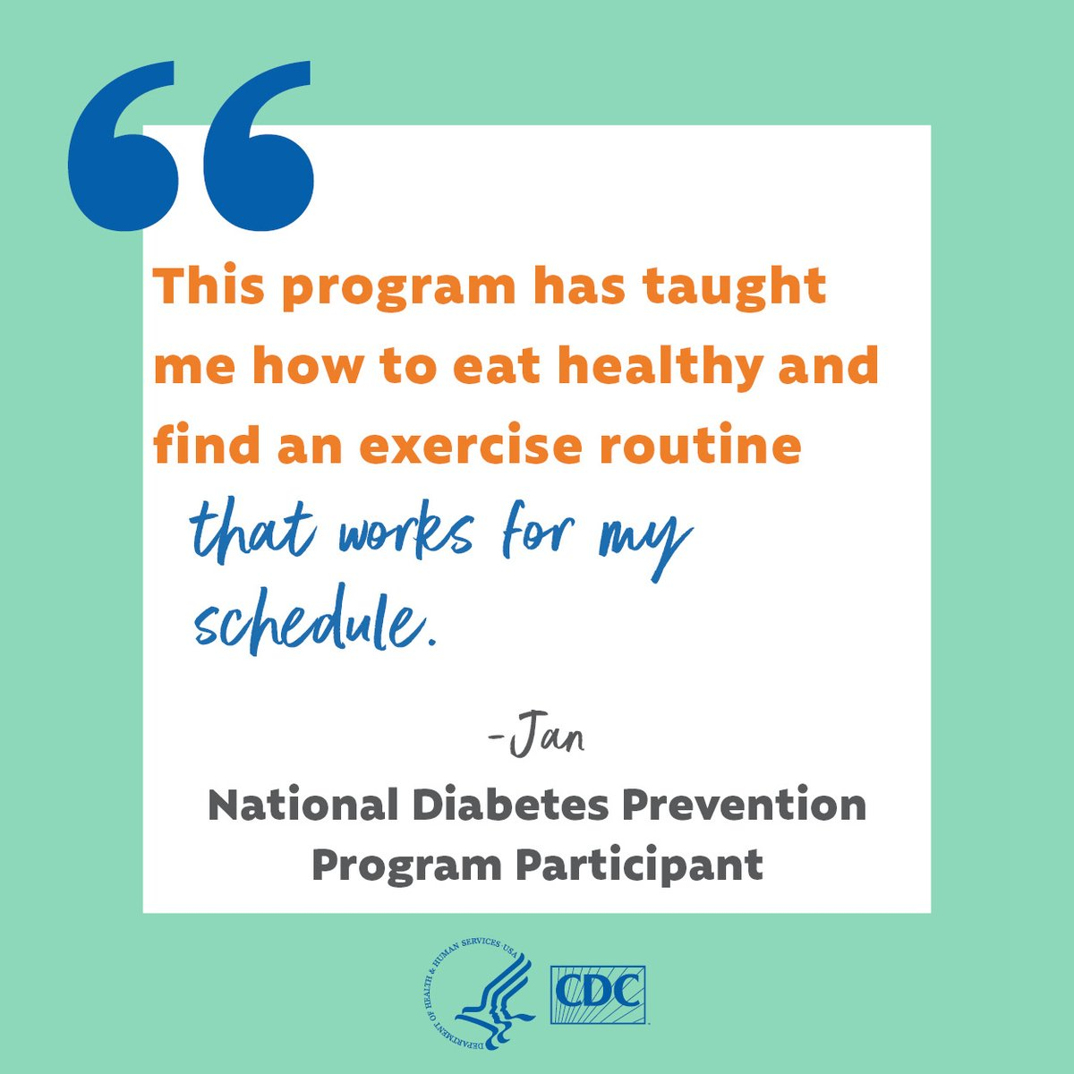 """CDC Diabetes على تويتر: """"Living with #prediabetes? Learn how online  delivery of the National Diabetes Prevention Program can help you prevent  or delay #t2diabetes from the comfort of your home: https://t.co/bLXxRIt7mD  #NationalDPP…"""