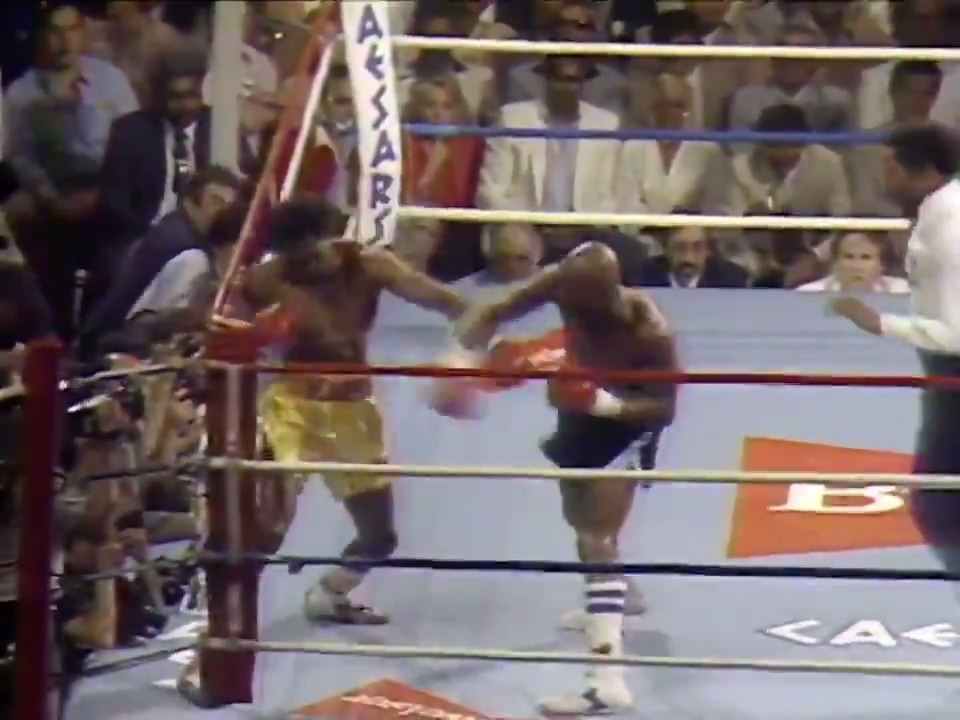 Hagler vs. Hearns, Round 1. If you've seen it, you're welcome. If you haven't, the next three minutes may change your goddamn life.