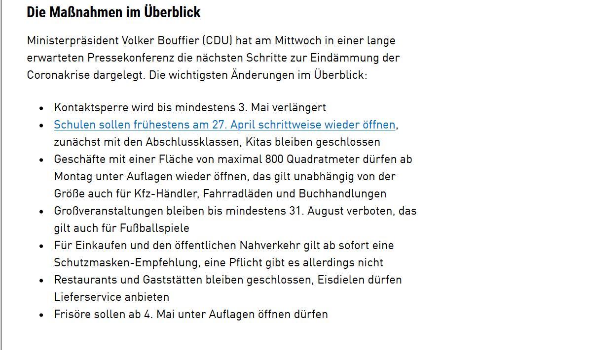 #Lockerungen