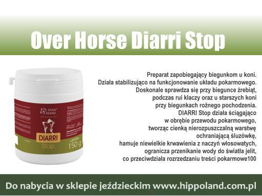 Preparat DIARRI Stop polskiej firmy Over Horse. Działa przeciwbiegunkowo oraz stabilizująco na funkcjonowanie układu pokarmowego u koni. Doskonale sprawdza się przy biegunce źrebiąt. https://t.co/zoFfC5U5s0 #zrebaki #zrebieta #hodowlakoni #klaczezrebne #sklepjezdziecki #hippoland https://t.co/KNic68koaG