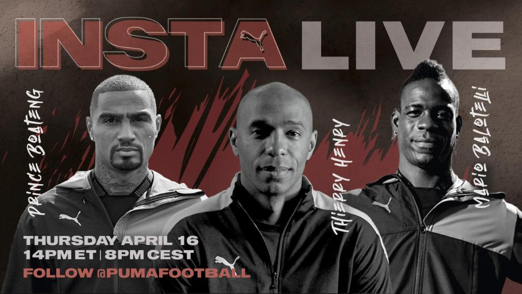 Replying to @pumafootball: The IG Live you shouldn't miss, ft. @ThierryHenry, @FinallyMario & @KPBofficial.  Tomorrow.