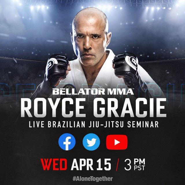 Today at 6 p.m. EST / 3 p.m. PST on @BellatorMMA's social channels — #AloneTogether