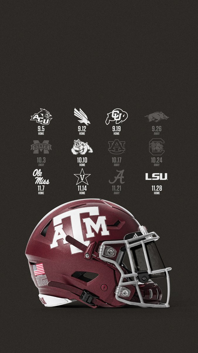 Texas A M Football On Twitter Wallpaperwednesday Go Ahead And Lock In That 2020 Schedule Lock Screen Ricosproducts Gigem