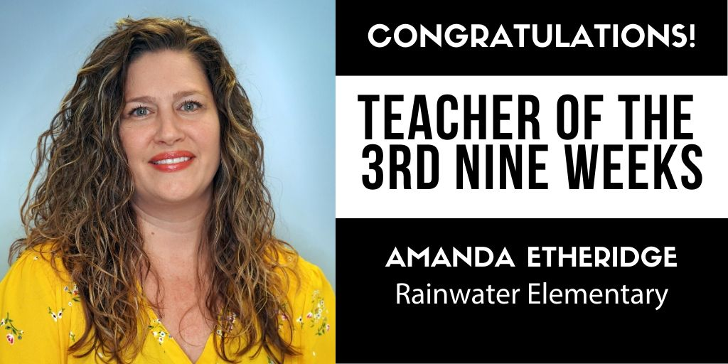 Following social distancing best practices, CFBISD was unable to honor our Teachers of the Third Nine Weeks at the April board meeting.  Congratulations to Amanda Etheridge of Rainwater Elementary for being honored as their Teacher of the 3rd Nine Weeks.   #betheexception #cfbisd https://t.co/SFyhXKb1UF