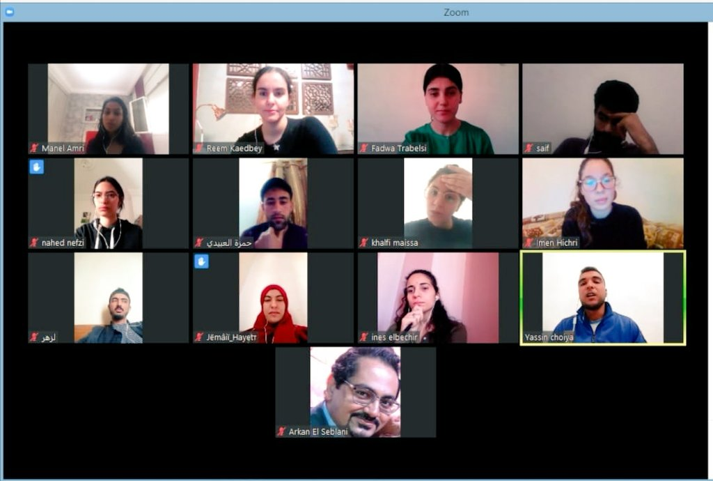 #IntegrityGuardians continue activities online. In #Tunisia this week, they joined from #Gabes #Gafsa #Kasserine #Kef #Manouba #Medenine #Monastir #Sfax & #Tunis to discuss how #COVID_19 is impacting governance systems & state-citizen relationships & what it means for democracy.pic.twitter.com/nrsyLqzDNj