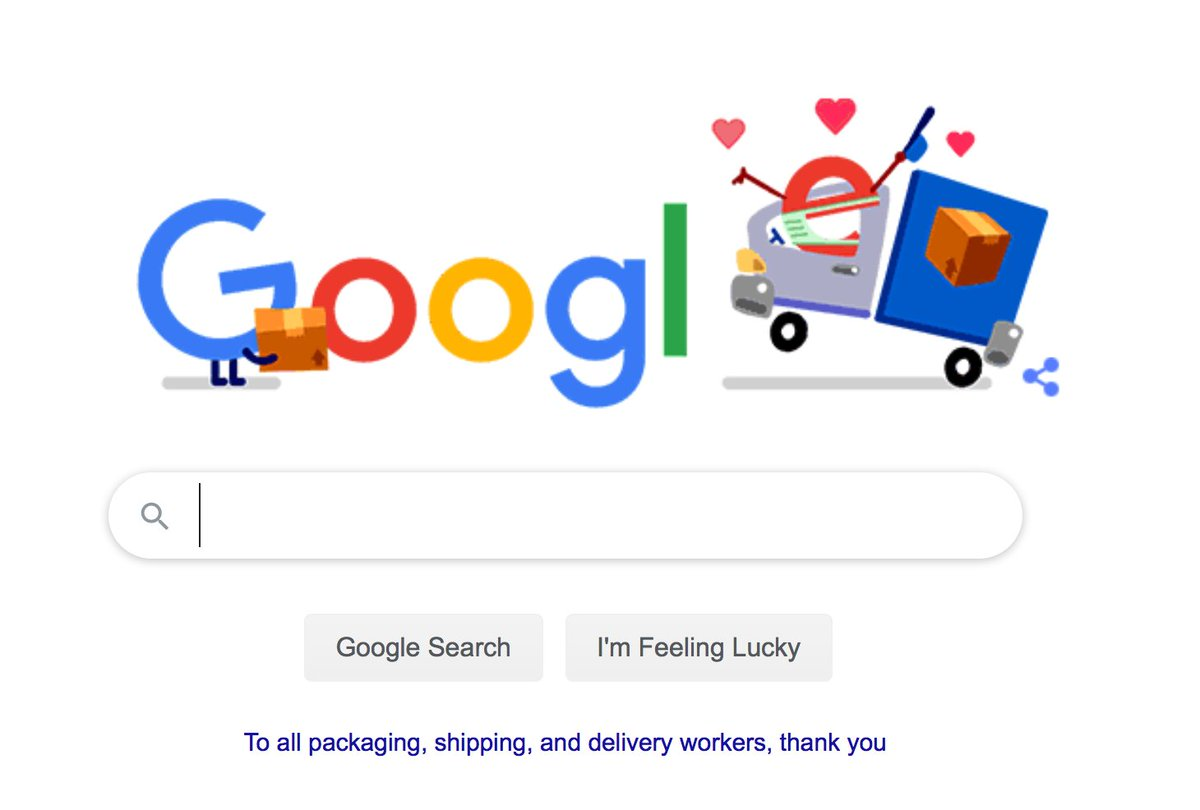 This month, Google is thanking Covid-19 #EssentialWorkers by recognizing them in a series of #GoogleDoodles. Today, they honour the those in the #packagingandlogistics field. We want to join Google in thanking our employees who continue to work and help service our customers. https://t.co/d35duy6ryR