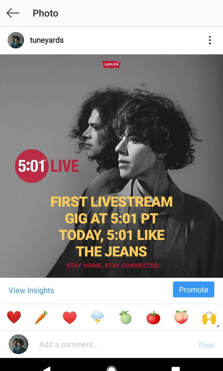 Livestreamin 5:01 PT today @LEVIS Instagram Gigging and giggling