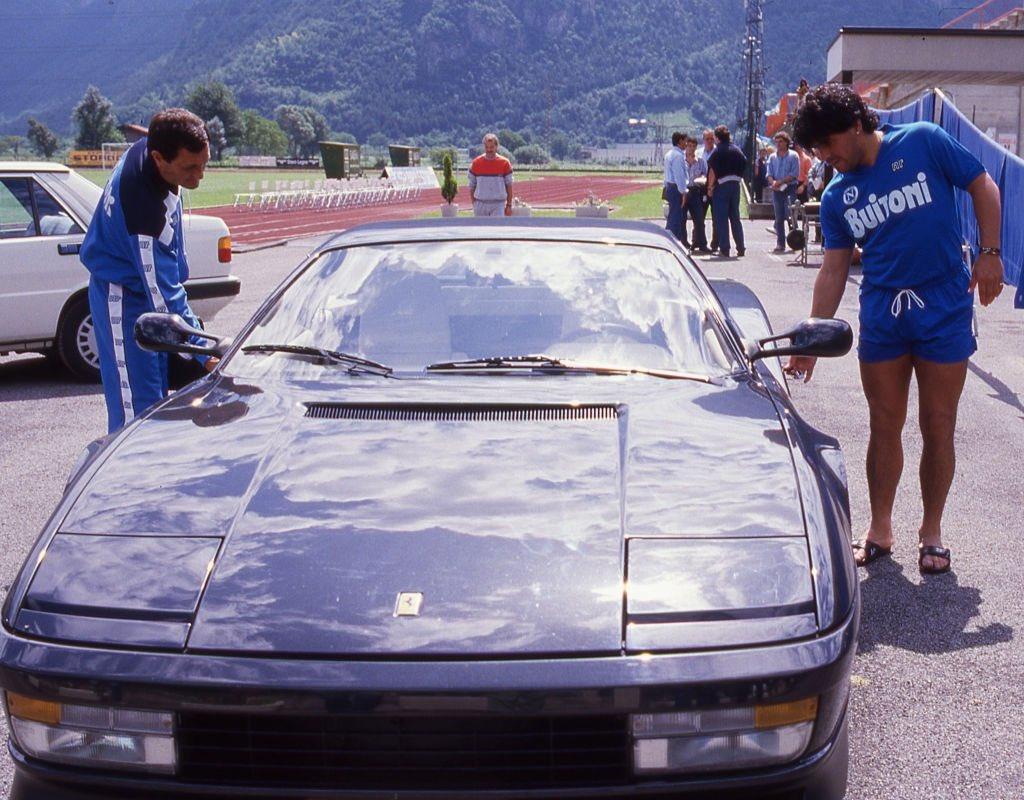 Everything Napoli Auf Twitter Maradona Getting Into His Ferrari Testarossa With Salvatore Carmando In 1987 Alessandro Sabattini Getty