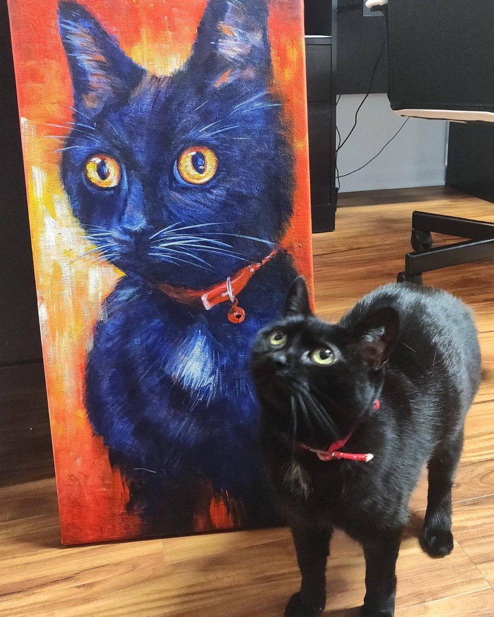 My #Gorl and her #Painting    #Cats #Cat #Kittens #Kitten #Kitty #Pets #Pet #Meow #Moe #CuteCats #CuteCat #CuteKittens #CuteKitten #MeowMoe  https://www.meowmoe.com/616543/my-gorl-and-her-painting-%f0%9f%92%96/…   .pic.twitter.com/Z2OYdWBQ1K
