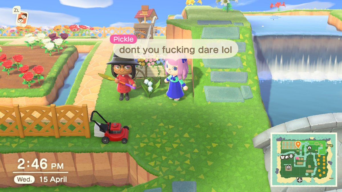 Replying to @PickleNQ: She be testing my nerves hahaha @Glam_NQ #AnimalCrossing #ACNH #NintendoSwitch