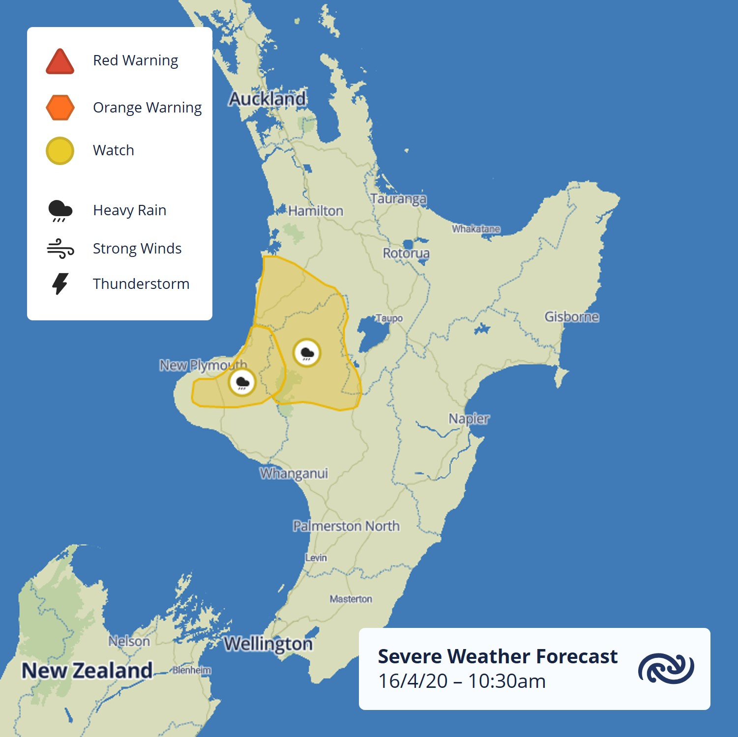 West is Wettest   The majority of Aotearoa will see some wet and windy weather starting tomorrow and through the weekend. Thunderstorms and prolonged rain could see accumulations approach warning criteria for these areas shown.   More information at metservice.com/warnings/home ^Lewis https://t.co/sNpmn1q7EC