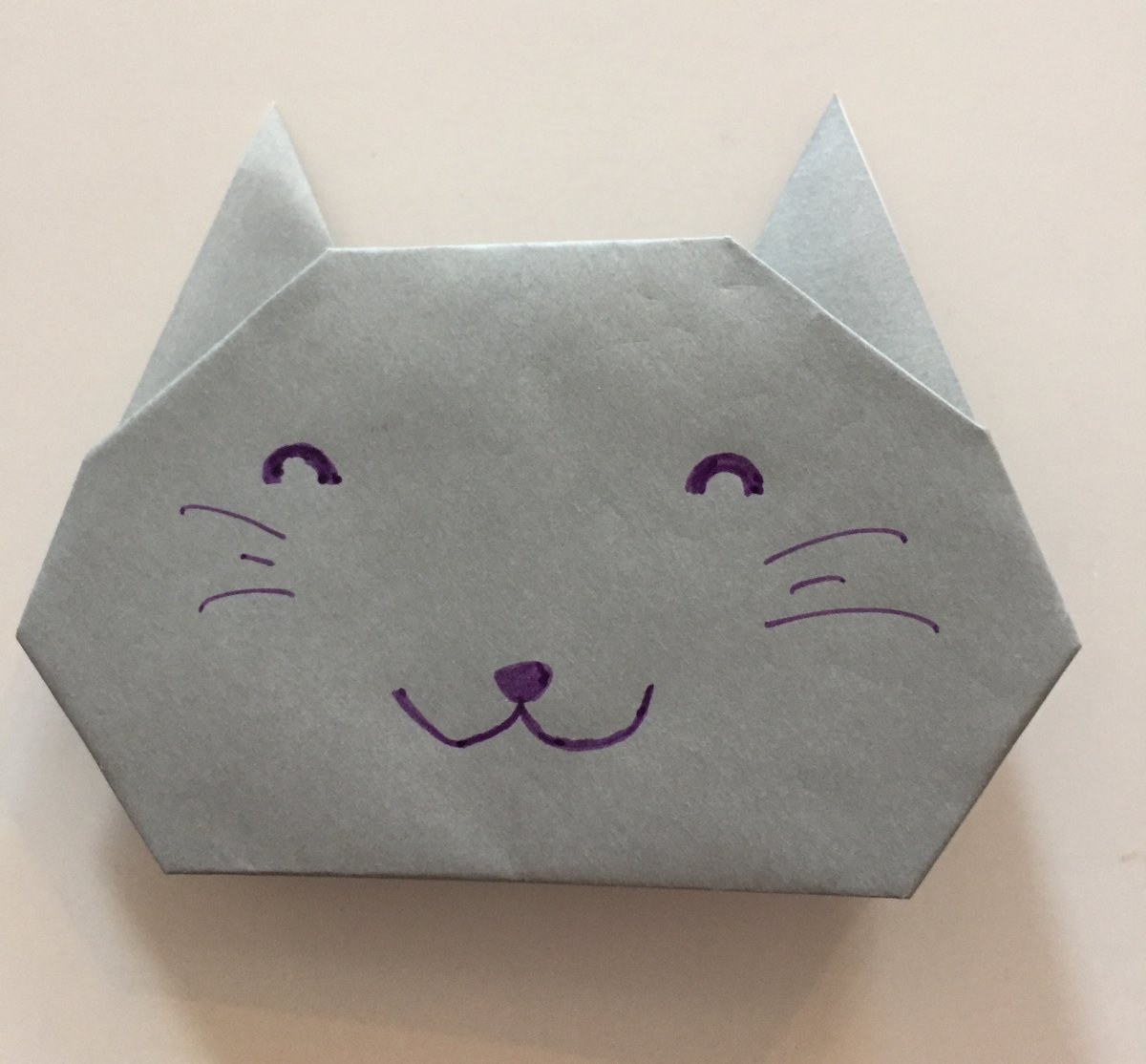 Origami Cat | Origami cat, Origami diagrams, Origami cat instructions | 1114x1200