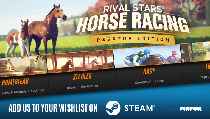 Pikpok On Twitter We Have An Exciting Announcement To Make Rival Stars Horse Racing Desktop Edition Is Coming Soon To Steam And It Has A Horse Creator Add Us To Your Wishlist