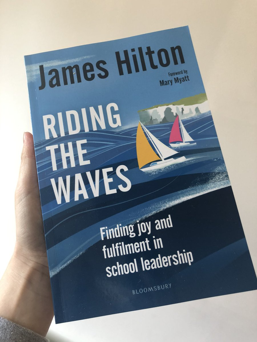 Delighted to see @jameshilton300 book arrive #ridingthewaves I had the privilege of reading a copy prior to publication and can highly recommended it to #nischoolleaders https://t.co/iXOITe8I3x