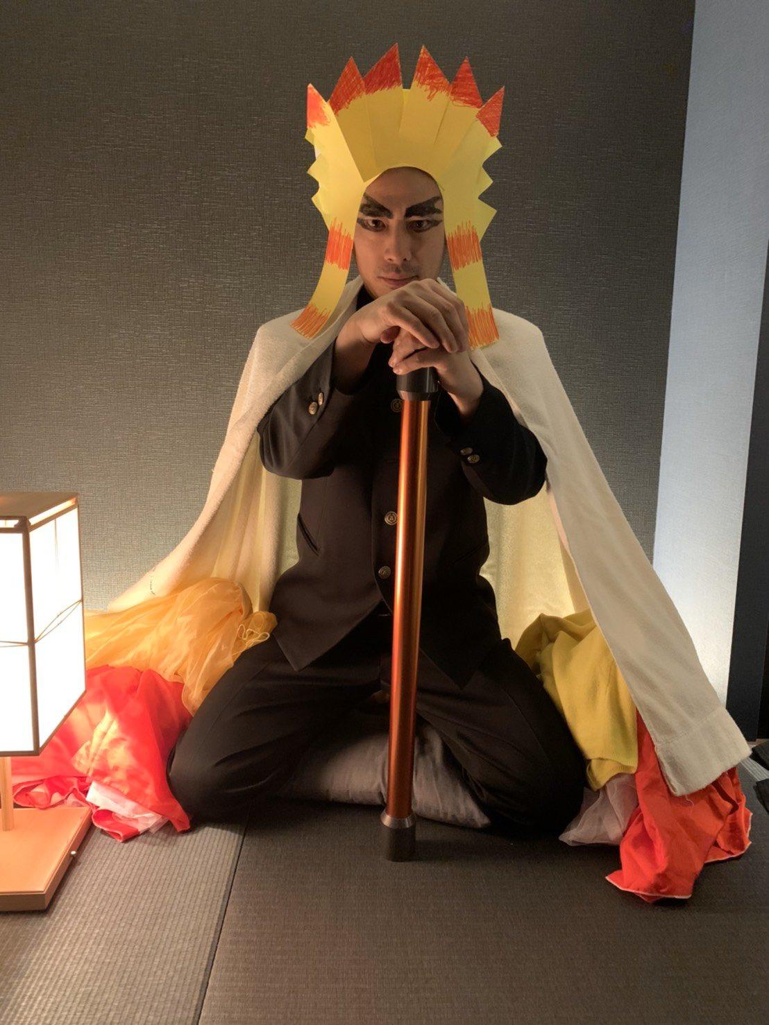 ロンブーの田村淳さんwww渾身の『鬼滅の刃』の煉獄杏寿郎コスプレを披露www
