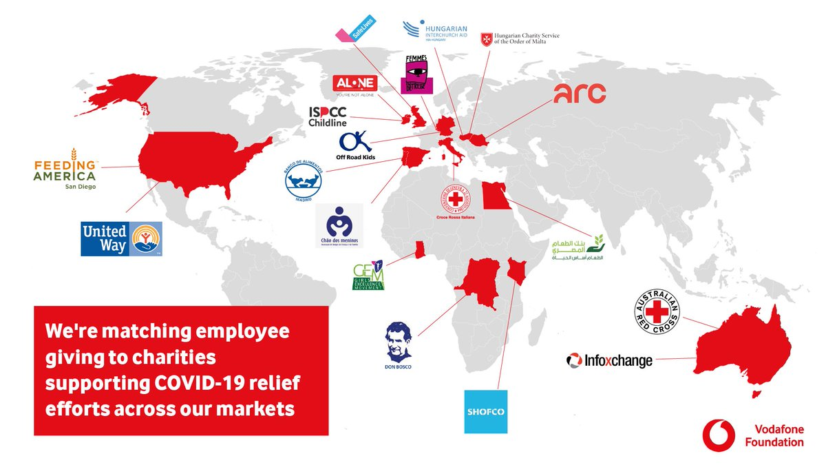Today we announce a new Community Fund to help those most in need due to the #coronavirus health crisis.   We'll match employee donations made to local charities in countries where @VodafoneGroup operates until June 2020.   Find out more: https://t.co/ooeka1uNBT https://t.co/Kr1bQsRjs6
