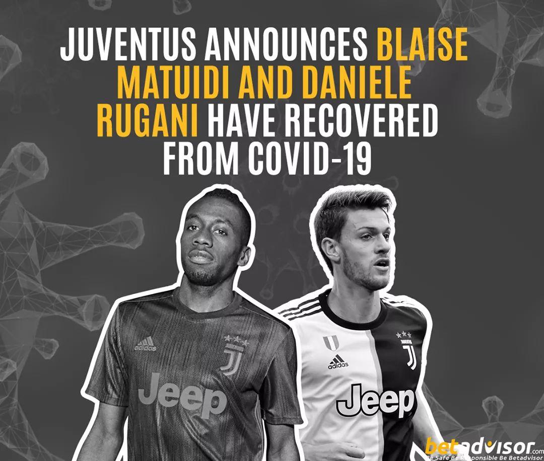 Juventus announces Blaise Matuidi and Daniele Rugani have recovered from Covid-19  #betadvisor #football #soccer #sport #tips #juventus #italy #matuidi #rugani #COVID19 #Corona #Recovered https://t.co/4br0mmrOQa