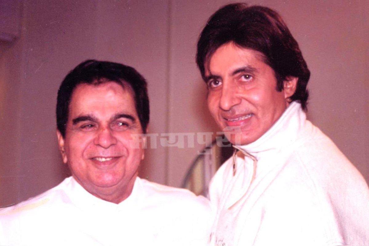 Two Living Legends ❤️🙏🏻  @SrBachchan @TheDilipKumar   #legend #Throwback #ThrowbackThursday #thursdaymorning #Bollywood #BREAKING #AmitabhBachchan #dilipkumar #mayapuri #mayapurimagazine