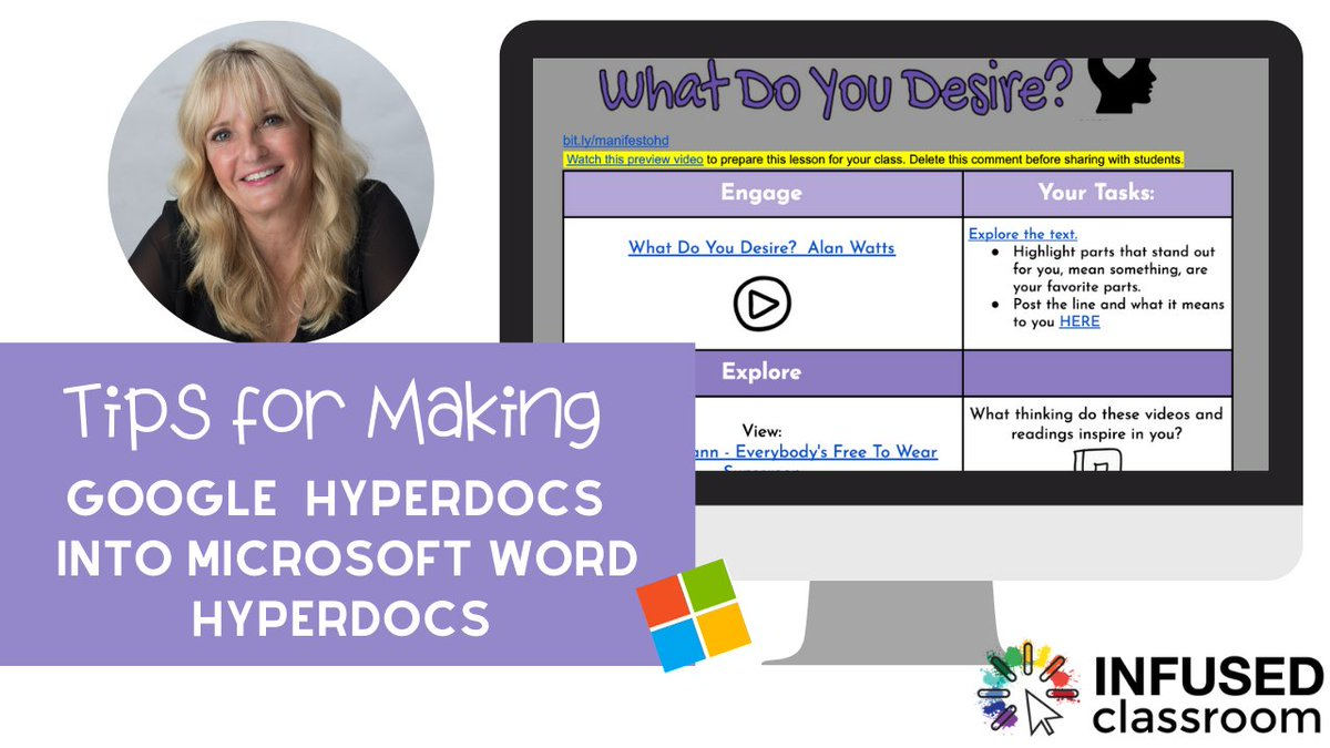 Its about time! #HyperDocs are going Microsoft! AND Coming soon - OneNote HyperDocs! #eleanring #remotelearning #distanceleanring #infusedclassroom #MicrosoftEDU hollyclark.org/2020/04/15/hyp…