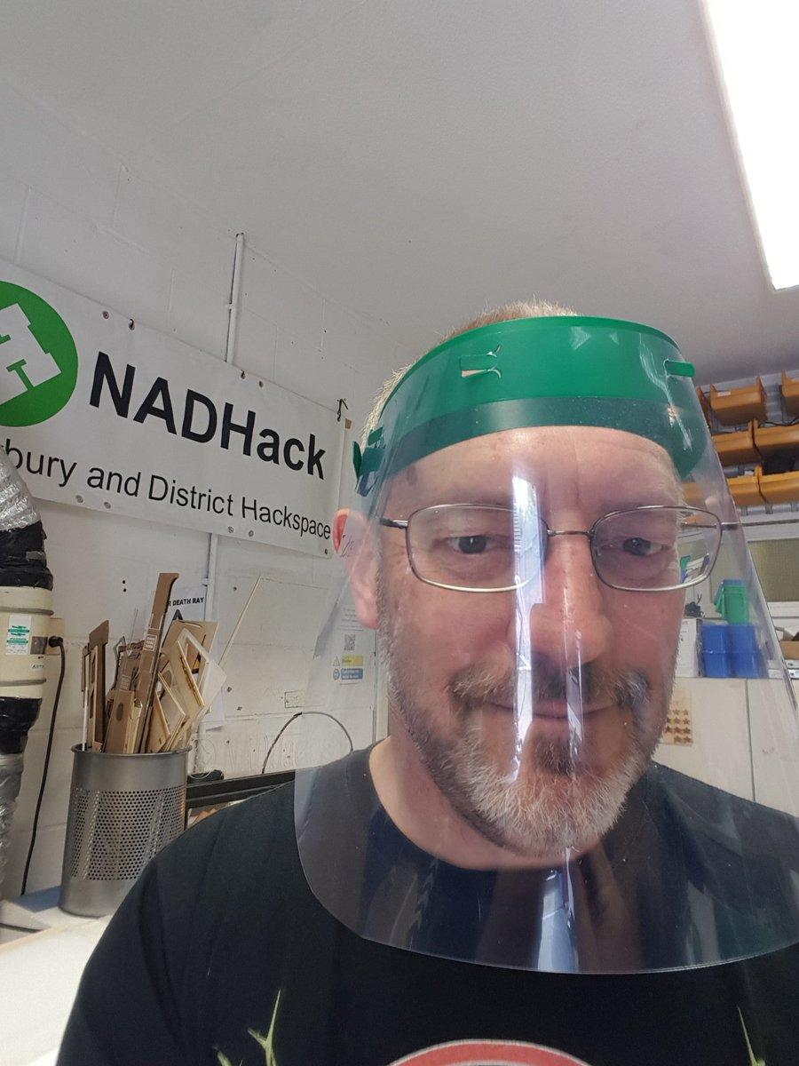 Now in green. More faceshields for West Berks https://t.co/pwweVXhL0s