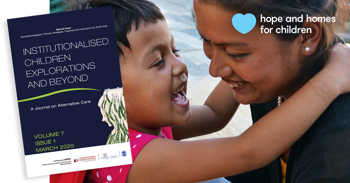 Invited by @UdayanCare, our team has guest edited the latest edition of 'Institutionalised Children Explorations and Beyond', an influential peer-reviewed journal covering South #Asia: https://t.co/TStget4LKw  #AlwaysFamilyNeverOrphanages #ICBJournal https://t.co/aD0K0Z3QSv