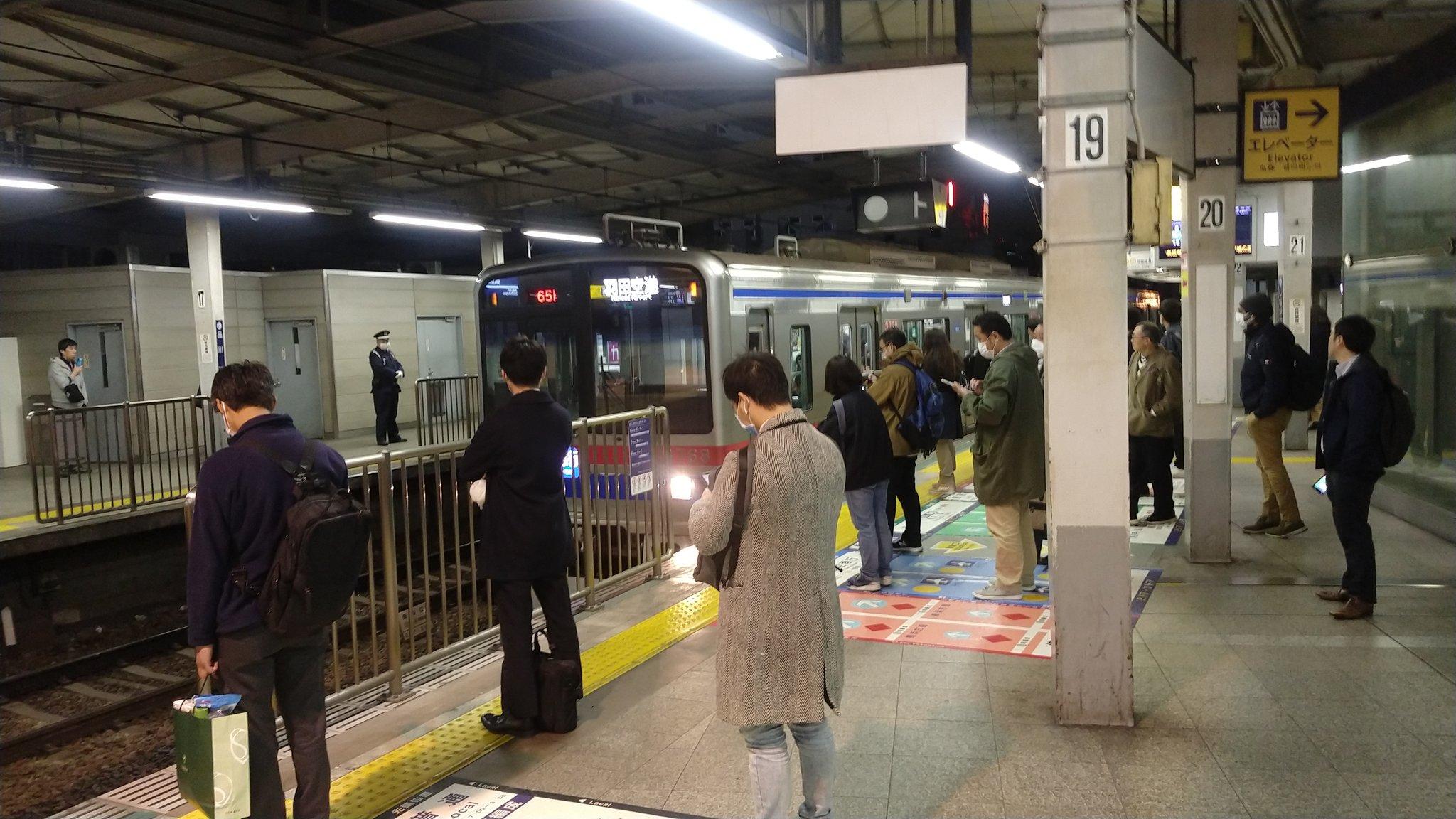 品川駅で人身事故が起きた現場の画像