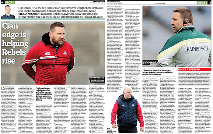 "Kieran McCarthy on Twitter: ""'I politely declined for no other reason than  I had promised my wife that I would take a break' Big interview with  @OfficialCorkGAA football coach Cian O'Neill in"