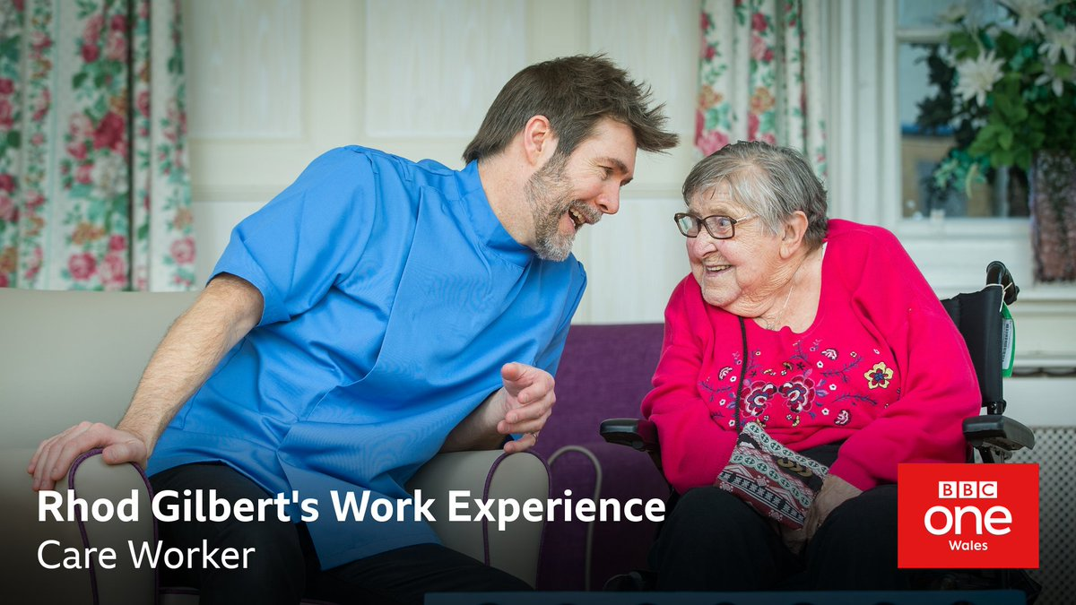 Filmed last year, a special episode of Rhod Gilbert's Work Experience, sees him find out what it means to be a carer.  🆕 Rhod Gilbert's Work Experience 📺 Friday, @BBCOne Wales, 9.30pm https://t.co/WDoc3YI1Qa