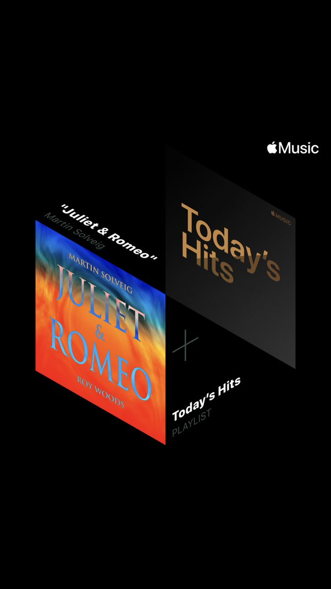 'Juliet & Romeo' is still the Hottest Song on @AppleMusic Today's Hits playlist 🙏🏻 TYSM  → Listen to Today's Hits here:    #MartinSolveig #JulietandRomeo #HottestSong