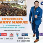 Image for the Tweet beginning: ⭕ENTREVISTA TV @mannymanuel_. En vivo.