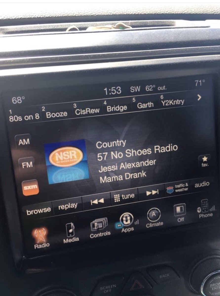 THANK YOU, @kennychesney, for personally adding #MamaDrank to @noshoesradio! Youve always been so good to songwriters! @SIRIUSXM