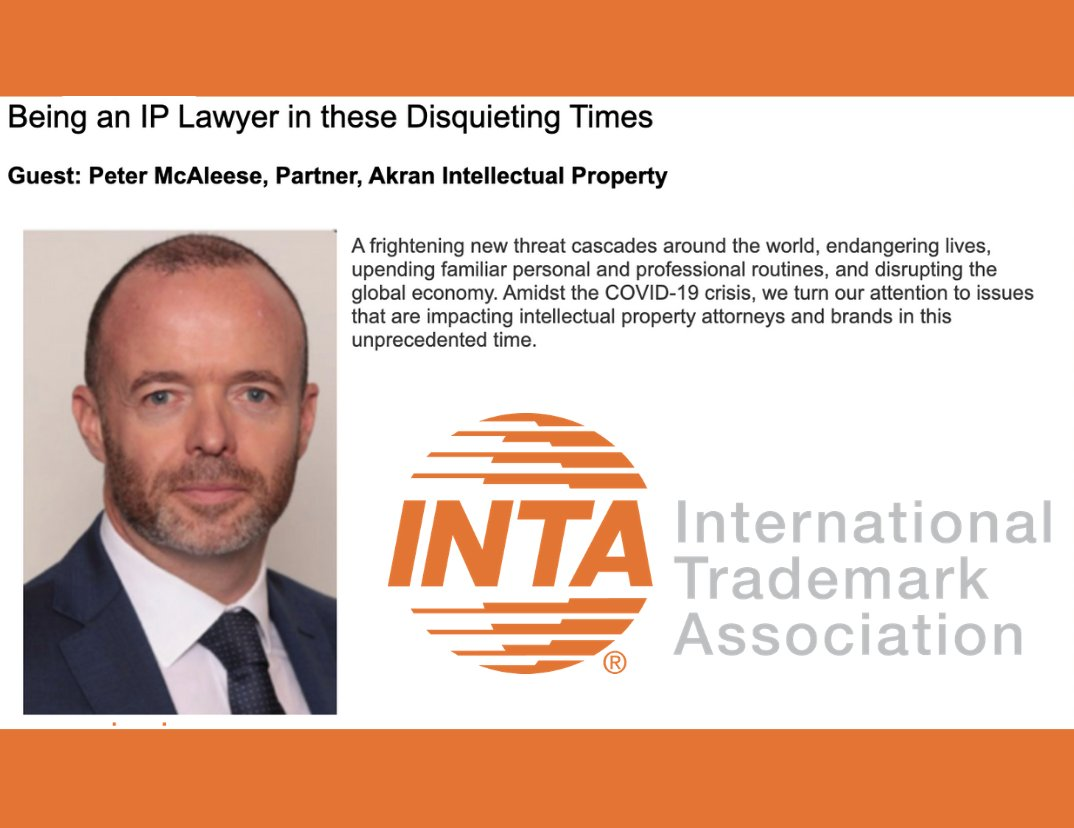 "test Twitter Media - Our partner Peter McAleese was invited by the @INTA  to be a guest on a podcast entitled ""Being an IP Lawyer in these Disquieting Times""  To listen the podcast click on the link below  -> https://t.co/CruYi3rKr6  #intellectualproperty #trademark #patent https://t.co/Vqiv6LENXI"