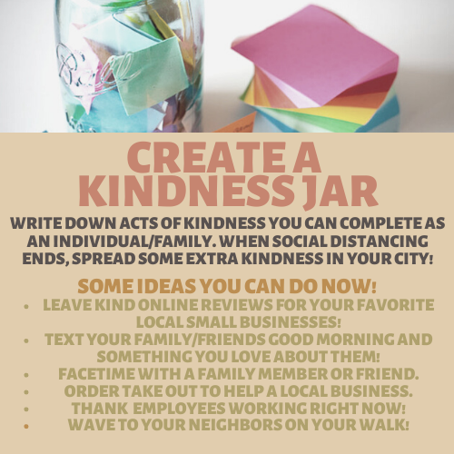 City Of Menifee Ca On Twitter A Perfect Family Activity Create A Kindness Jar Filled With Small Acts Of Kindness You Can Do Throughout The Community Once Social Distancing Ends See A