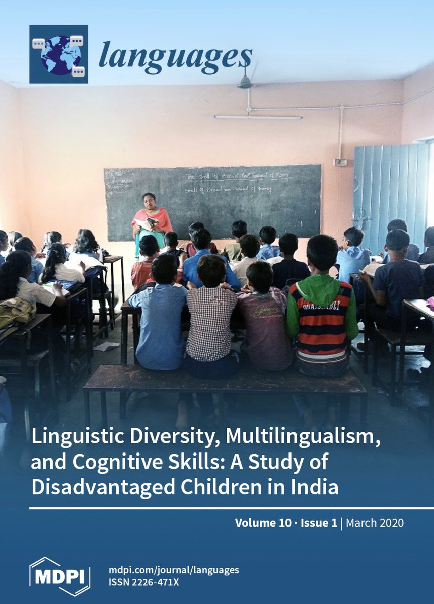 Work feels productive, when the participants are children eager-to-learn in schools. #Cover of journal @MDPIOpenAccess. Hope amidst disadvantages and hope from diversity. Ianthi Tsimpli @Cambridge_Uni @EFLU_OFFICIAL @nimhans https://t.co/LPH7AFEdDt https://t.co/3OA5bWg3Pr