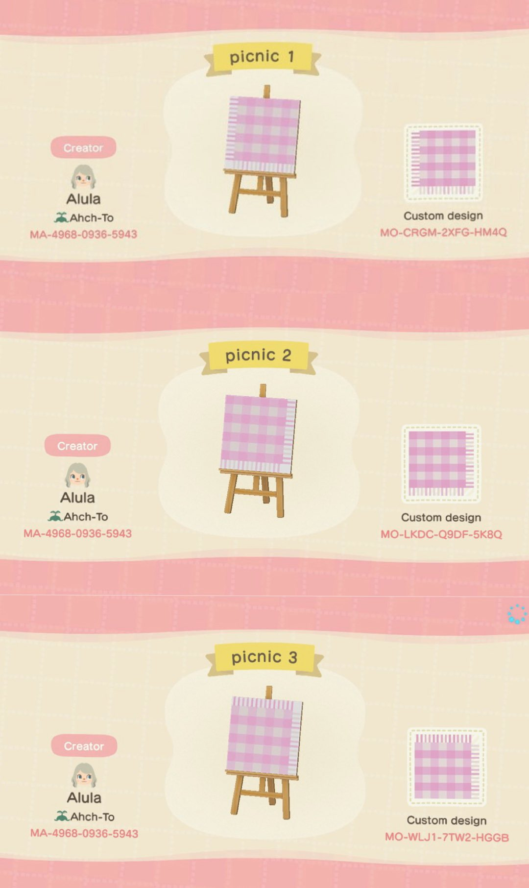 Mk On Twitter I Made A Pink Gingham Picnic Blanket Animalcrossing Acnhdesigns Nintendoswitch Acnh