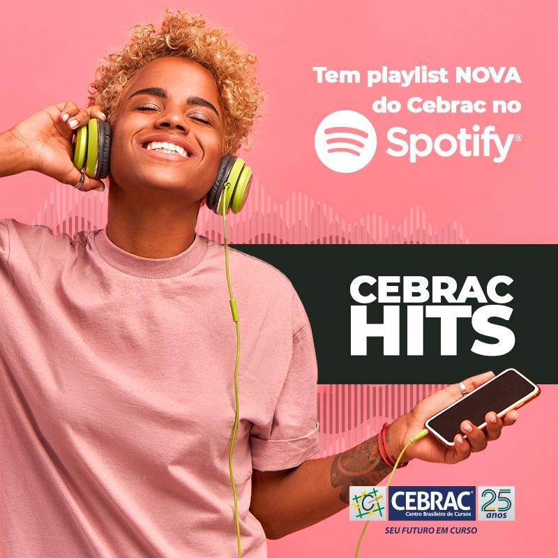 Hoje é dia de #Playlist nova: CEBRAC HITS! Clique no link: https://t.co/iOj0QEAFDm para ouvir! 🎶 #cebrac #spotify #música #edtech https://t.co/IplFohMRWC