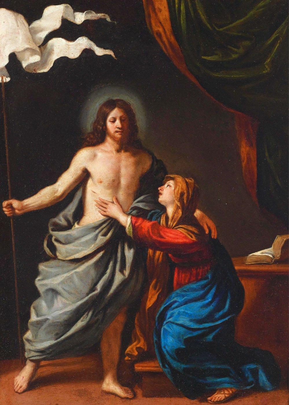 Jesus Cristo Ressuscitado com a Virgem Maria