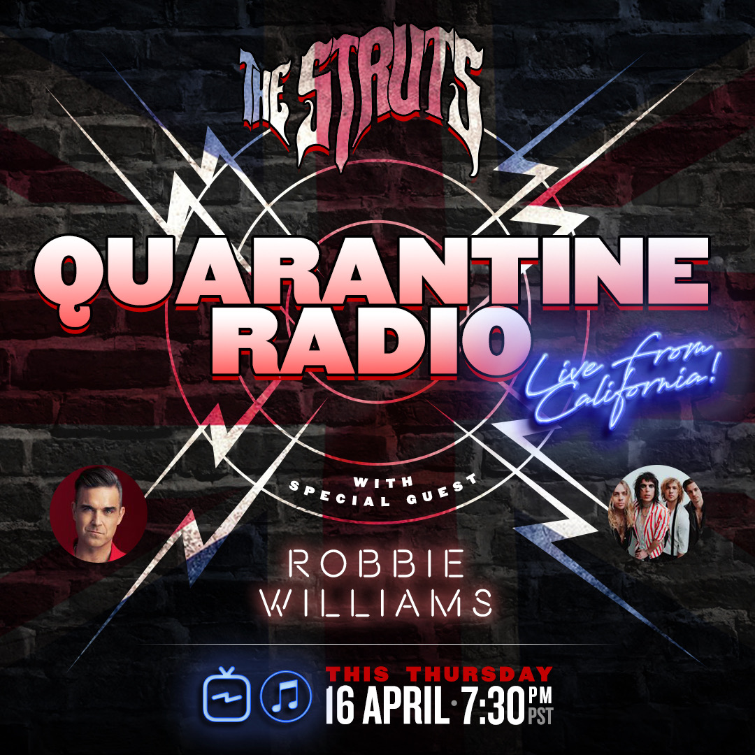 TONIGHT! Tune in to our Instagram for #QuarantineRadio LIVE with our very special guest, the legendary @RobbieWilliams! Stop by at 7:30pm PT x https://t.co/Gs3DHjDWJu