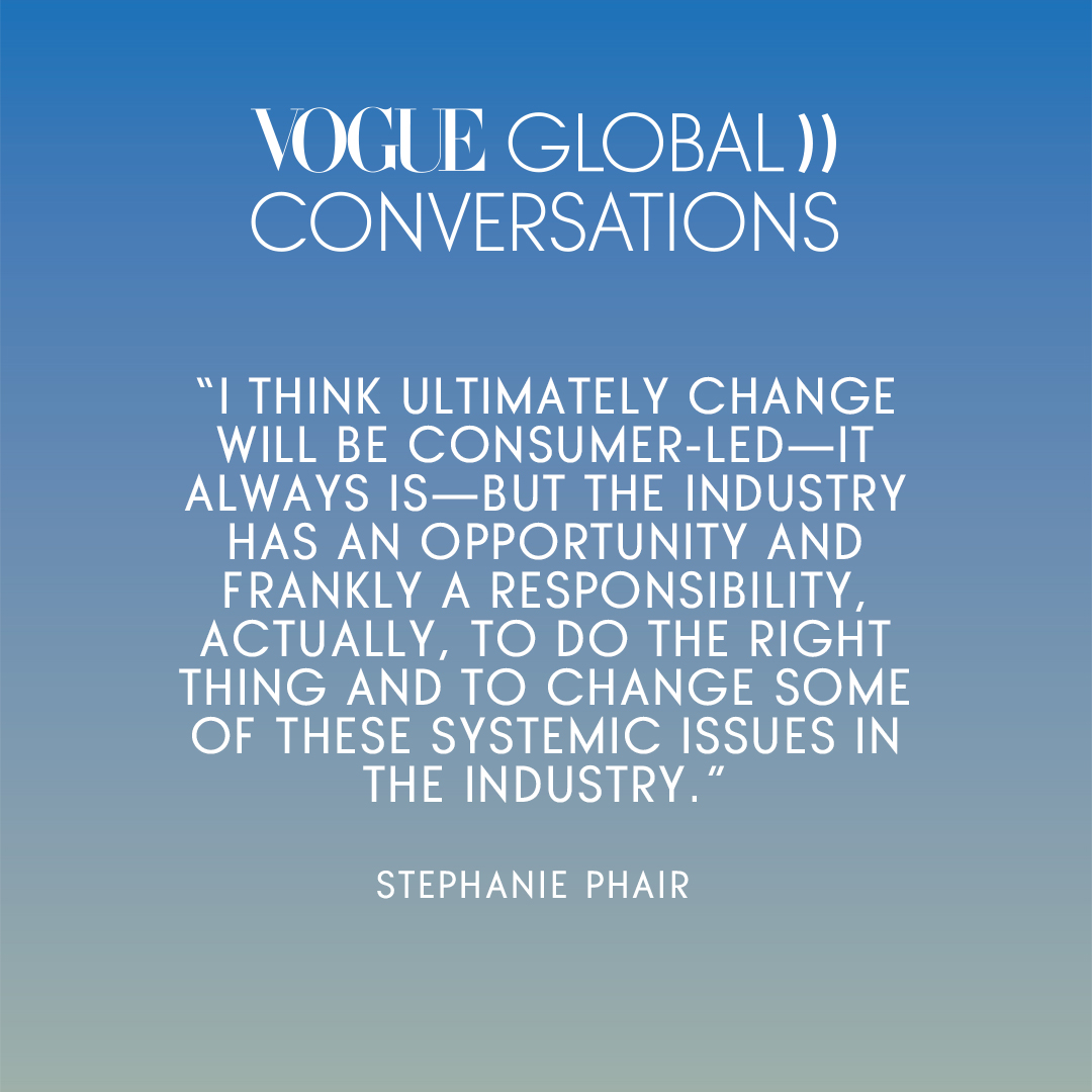 .@FarFetch and @BFC's Stephanie Phair on how consumers have the power to make change, but that they can be supported by change at larger corporations. #VogueGlobalConversations https://t.co/ll57anqUky https://t.co/hHJ8odEQxf