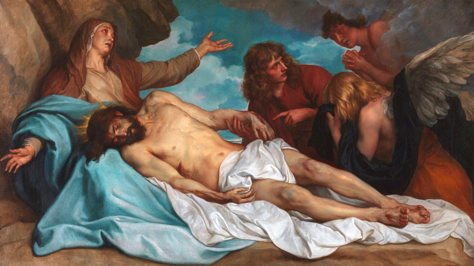 Nossa Senhora com Jesus Cristo morto