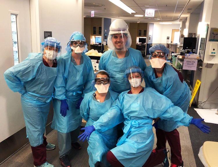 Rush interdisciplinary proning team. Photo courtesy of Sadie Finke.