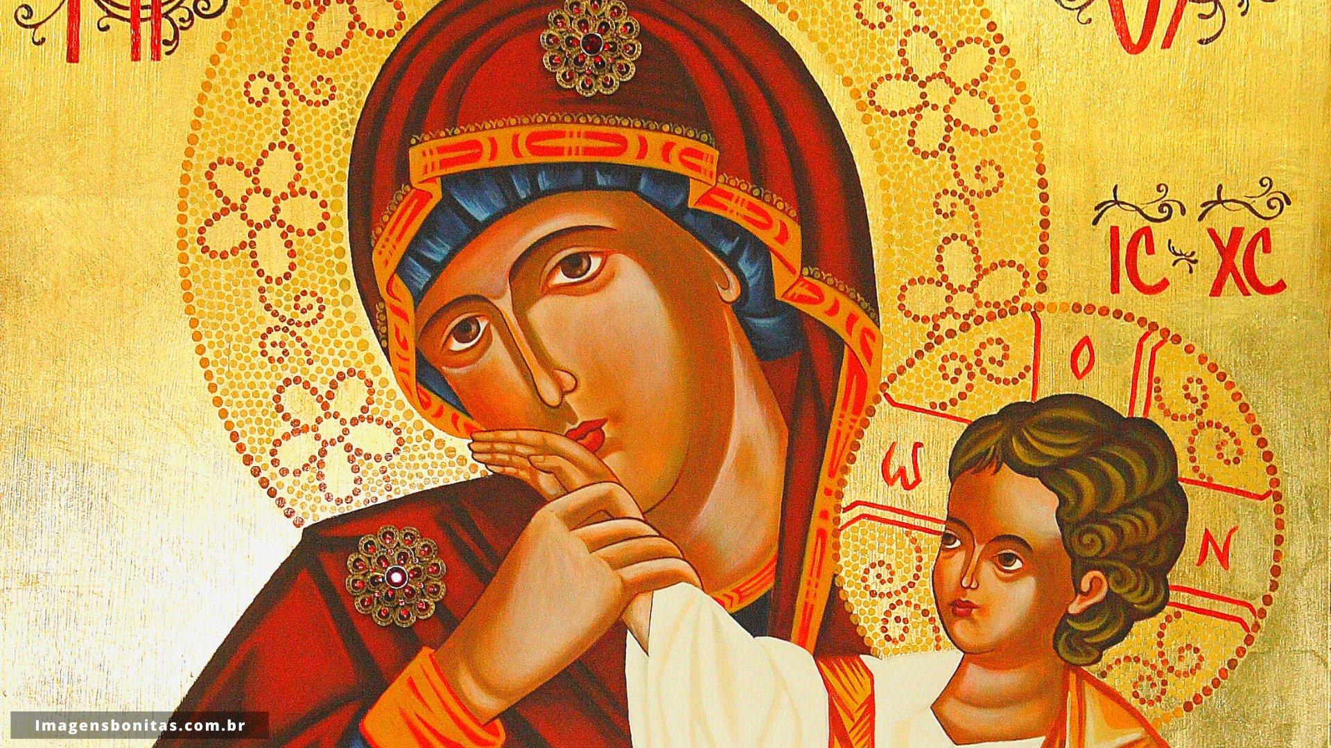 Wallpaper da Virgem Maria com o Menino Jesus