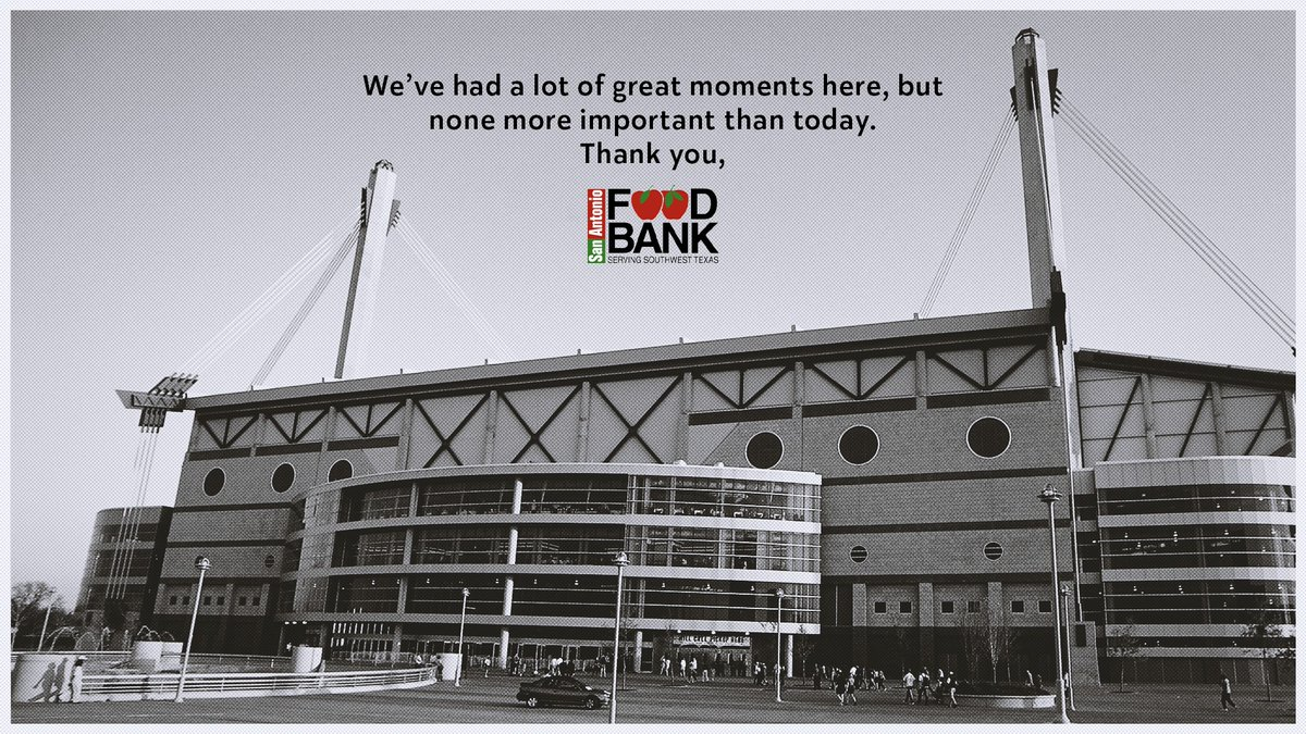 .@safoodbank will be distributing food at the Alamodome beginning at 10am today! You must pre-register in order to receive food. 🚨  Register at https://t.co/mFCmuQFTWg or call 210-431-8326 for assistance. https://t.co/8Z74bonAKO