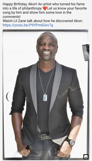 Happy Birthday     Akon for inspiring artists and new artists till this day