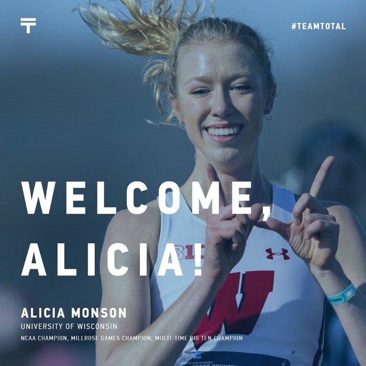 Wisconsin's Alicia Monson makes it official: The 2019 NCAA Indoor 5k champion is the first known collegiate distance runner to sign with an agent (and officially turn pro) this year.   Monson will be represented by @totalsportsus.  📸 via Total Sports https://t.co/a3A3qxyeMN