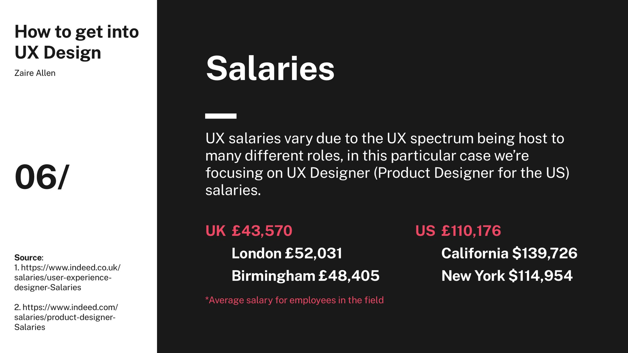Zaire On Twitter 06 Average Salaries For A Ux Designer Uk And Product Designer Us These Salaries Are Based On Full Time Employment And Not Contracting Or Freelance Which May Differ Https T Co Wylqskolqz