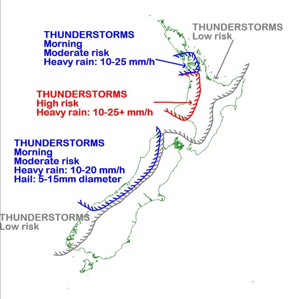 The risk of localised thunderstorms remains over many western regions (including Auckland) tomorrow - make sure you don't get caught out on your supermarket shop by keeping updated with the rain radar and forecasts at metservice.com. ^AC https://t.co/IjuIRQ4nPQ