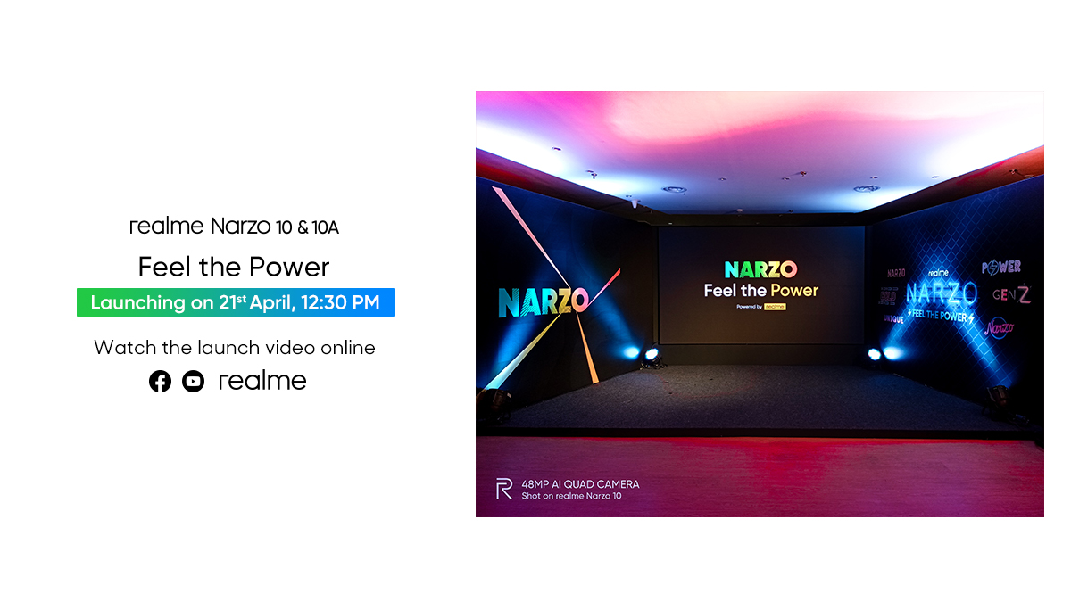 Realme Narzo 10 & 10A to get Launch on April 21 in India