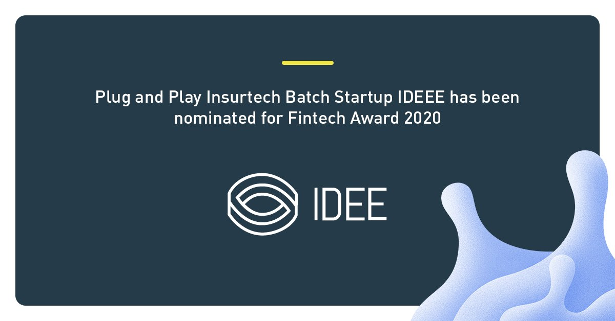 Our #Insurtech Europe Batch Startup IDEE GmbH has been nominated for the @FintechGermany Award 2020 which is considered as one of the leading awards for young businesses in the financial industry, including #insurance.   We wish them luck 🚀  #FTGA2020 #PnPInsurtech https://t.co/L2a8YgatNa
